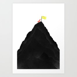 Man & Nature - To The Top Art Print