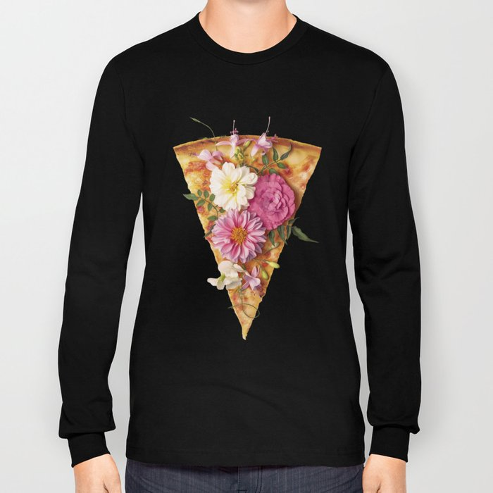 FLORAL PIZZA Long Sleeve T-shirt
