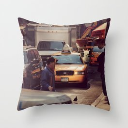 A LAMA IN NEW YORK ***  NEVER STOP EXPLORING VIII Throw Pillow
