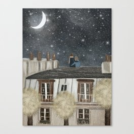 moonlit wishes with you Canvas Print
