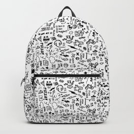 Passing Notes in Class // Old School Handwriting and Doodle Drawings in Black & White Backpack