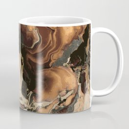 Old Brown Marble texture acrylic Liquid paint art Coffee Mug