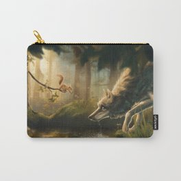 Want a Nut? (Wolf and Squirrel) Carry-All Pouch