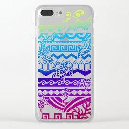 Maori Colors Clear iPhone Case