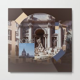 COLLAGE: Rome I Metal Print