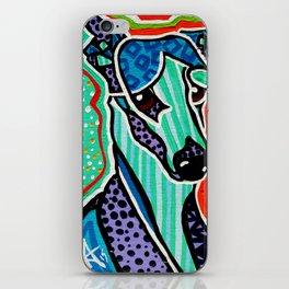 Willy Whippet Greyhound Saluki Italian Pharaoh Silken Manchester Fox Ibizan Designer Dog Puppy Pet iPhone Skin