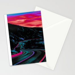 NEON NIGHTS Stationery Cards