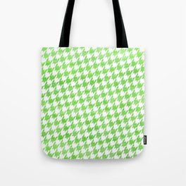 Green Houndstooth Pattern Tote Bag