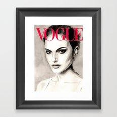Vogue Magazine Cover. Natalie Portman. Fashion Illustration Framed Art Print