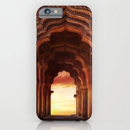 Arch Of Lotus Mahal At Hampi, Karnataka, India iPhone Case