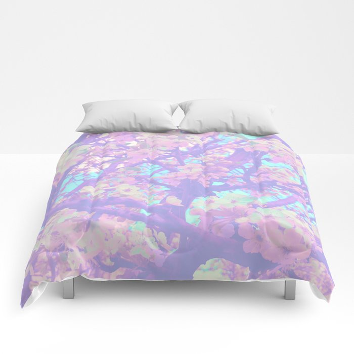blossoming spring Comforters