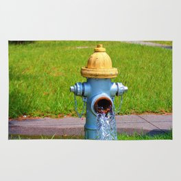 Fire Hydrant Gushing Water Rug