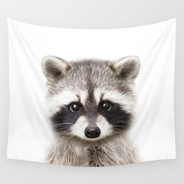 Baby Raccoon, Baby Animals Art Print By Synplus Wall Tapestry