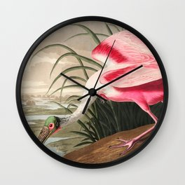 Tropical Exotic Fantasy Bird Landscape Wall Clock