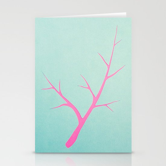 Branched in Pastel Stationery Cards