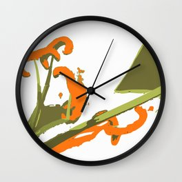 Luscious Lily Bold Graphic Pop Art Flower Print Wall Clock