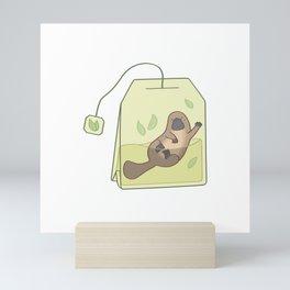 plateapus - Platypus in a teabag Mini Art Print