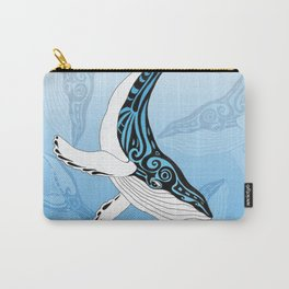 Humpback Whale Blue Spirit Tribal Art Carry-All Pouch