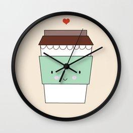 Bring coffee Wall Clock
