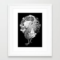 pyramid Framed Art Prints featuring Pyramid by rottenfantom