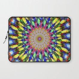 Psychedelic Mandala Colour Burst Laptop Sleeve
