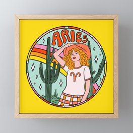 Aries Cowgirl Framed Mini Art Print