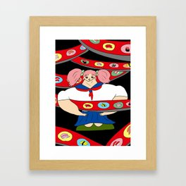 SUSHI GIRL   Takahashi-chan Framed Art Print