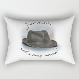 Hat For Leonard Cohen, Crazy Dream Kid Rectangular Pillow