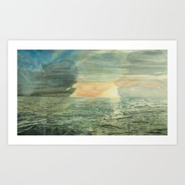 Thirteen Rows At Dawn  Art Print