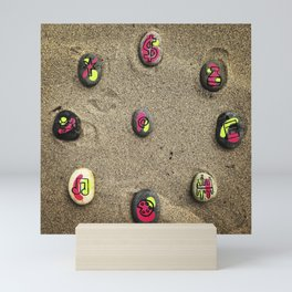 Beach Rocks Mini Art Print