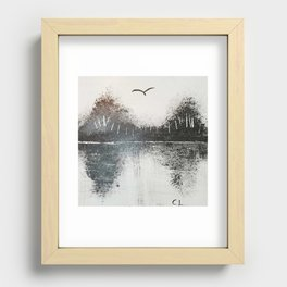 Mountain Paradise Recessed Framed Print