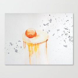 Raw Egg Canvas Print