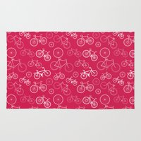 bicycles Area & Throw Rugs featuring Bicycles by Kippy