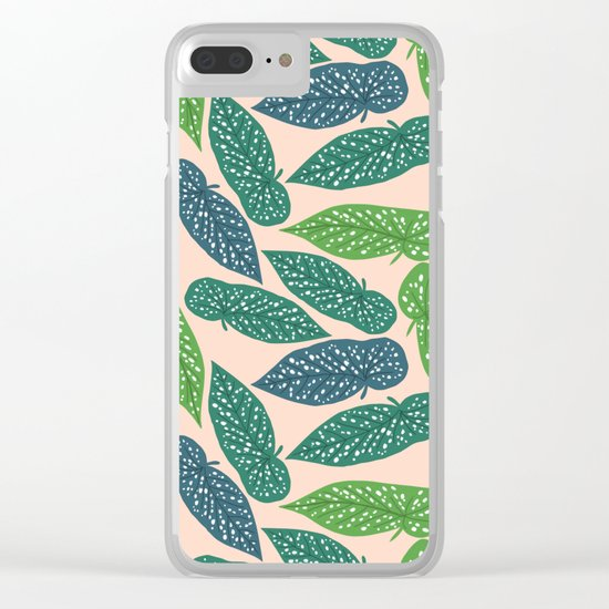 Begonia Maculata Clear iPhone Case