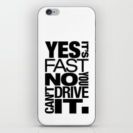 Yes it's fast No you can't drive it v6 HQvector iPhone Skin