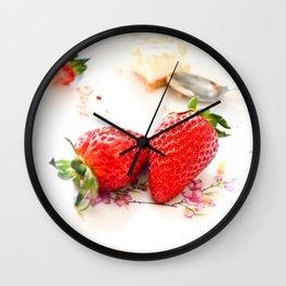 Strawberry Cheescake. Wall Clock