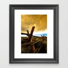 Choking the Sun Framed Art Print