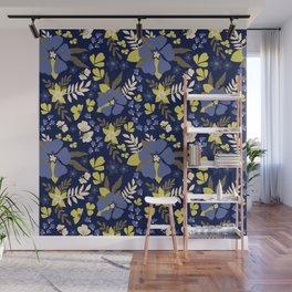 Blue blooms Wall Mural