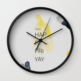 Happy Friyay Wall Clock