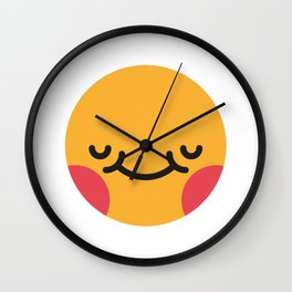 Emojis: Blush Wall Clock