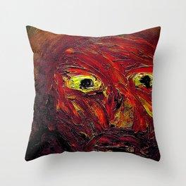 Braggart. Throw Pillow