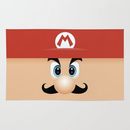 Mario With Cool Mustache Rug
