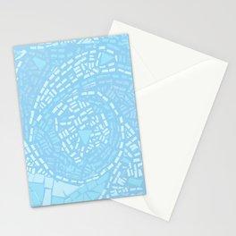Happy lightful blue Mosaic Stationery Cards