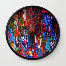 color mix / palette knife abstract Wall Clock