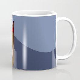 Nice flat fox illustration on blue background with cloud and sun Coffee Mug