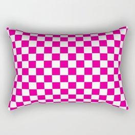 Pink Checkerboard Pattern Rectangular Pillow