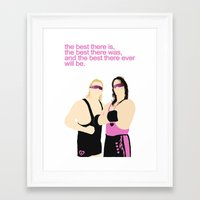 wwe Framed Art Prints featuring Bret and Owen Hart - WWE/WWF by Alex Mahoney