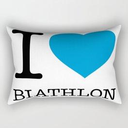 I LOVE BIATHLON Rectangular Pillow