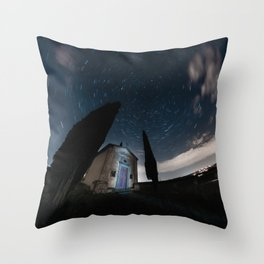 Star Trails in Tuscany Throw Pillow