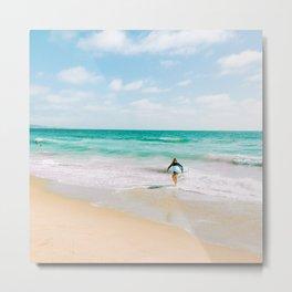 California Colors - Surfing - v1 Metal Print